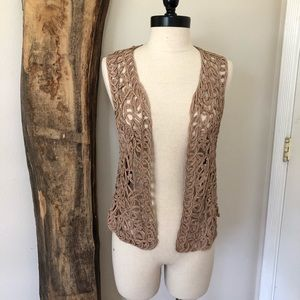 One of a kind woven vest
